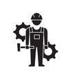 engineering performance black concept icon vector image vector image