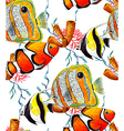 Fish and Coral Pattern3 vector image vector image