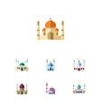 flat icon minaret set of islam muslim religion vector image vector image