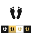 Footprints or human foot prints icon vector image vector image