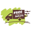 Free delivery for business vector image vector image