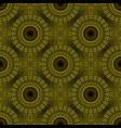 geometrical bohemian golden mandala flower vector image vector image