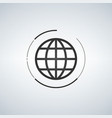 globe icon globe symbol flat with circle around vector image