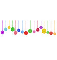 hanging paper flowers vector image vector image