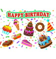 happy birth vector image vector image
