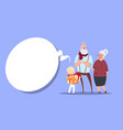 happy grandparents couple with grandson giving vector image