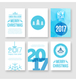 happy new year 2017 and merry christmas modern vector image vector image
