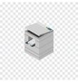 isolated photocopier isometric scanner vector image