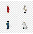 isometric people set of medic seaman female and vector image vector image