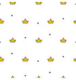 little cute crowns seamless pattern vector image