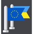 modern ukraine flag background Eps 10 vector image vector image