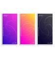 modern vibrant elegant banners set vector image vector image