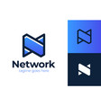 network n logo simple modern letter n design vector image