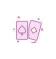 playing cards icon design vector image
