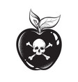 poison apple line art and dot work hand drawn vector image vector image