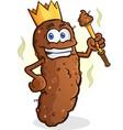 poop king cartoon character vector image