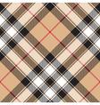 Pride of scotland gold tartan fabric texture vector image vector image