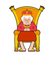 queen on throne old lady boss royal chair vector image vector image