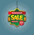 ramadan kareem sale banner vector image