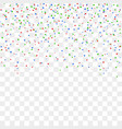 red blue green confetti celebration isolated vector image
