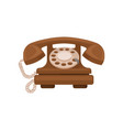 retro styled telephone on a vector image