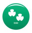 rhino step icon green vector image vector image