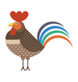 rooster or cock bird icon in flat design vector image vector image