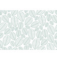 seamless linear leaves pattern horizontal plant vector image vector image