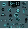 seo elements set vector image vector image