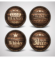 set of covers casks vector image vector image