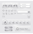 set of user interface elements templates vector image vector image