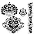 set ornate ornaments vector image