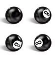 set realistic 8 ball isolated on a white vector image vector image