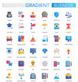 set trendy flat gradient business vector image