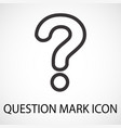 simple question mark line icon vector image vector image