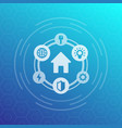 smart house icon vector image vector image