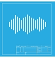 Sound waves icon White section of icon on vector image vector image
