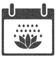 Spa Shower Calendar Day Grainy Texture Icon vector image vector image