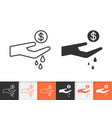 spend simple black line icon vector image vector image