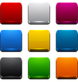 Square 3d color icons vector image vector image