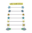 stars doodle borders set text dividers collection vector image