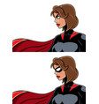 Superheroine portrait vector image