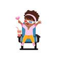 sweet happy african american little girl in 3d vector image vector image