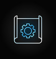 technical documentation thin line creative vector image vector image