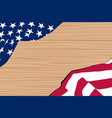 us flag wooden vector image