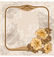 Vintage frame with flowers vector image vector image