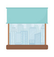 window cityscape view urban isolated icon design vector image vector image