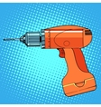 work tool drill screwdriver vector image vector image