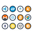 cryptocurrency set of icons vector image