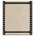 Old blank film strip isolated on white vector image